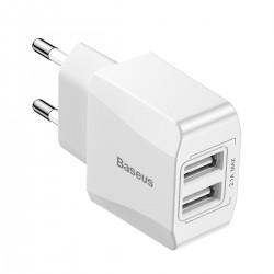 Baseus Mini Charger 2x USB - White