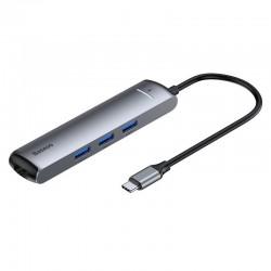 Adapter HUB 6w1 Baseus USB-C to 3x USB 3.0 + HDMI + RJ45 + USB-C PD