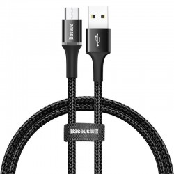 Baseus Halo Lightning cable with LED lamp 3A 0.5m (Black)