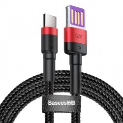 Baseus Cafule USB-C Cable Huawei SuperCharge, QC 3.0, 5A 1m (Black+Red)