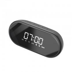 Baseus Encok E09 Wireless Bluetooth Speaker, clock (black)