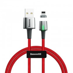 Baseus Zinc Magnetic USB Lightning Cable 2.4A 1m (Red)