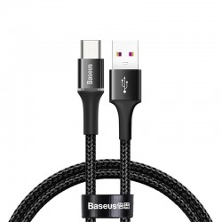 Baseus halo data HW flash charge cable USB For Type-C 40W 0.5m Black