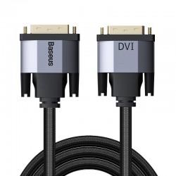 Baseus Enjoyment Series DVI Male To DVI Male bidirectional Adapter Cable 2m Dark gray