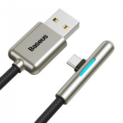 Baseus Iridescent Lamp HW flash charge Mobile Game USB For Type-C 40W 1m Black