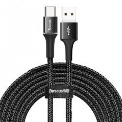 Baseus halo data cable USB For Type-C 2A 3m Black
