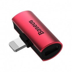 Baseus iP Male to Dual iP Female Adapter L46 Red-Black