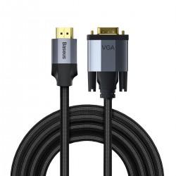 Baseus Enjoyment Series VGA Male To HDMI Male Cable 2m Dark gray