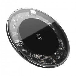 Baseus Simple Wireless Charger, 15W Transparent