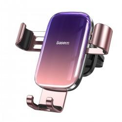 Baseus Glaze gravitational car holder for ventilation grid, aluminum (pink)