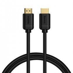 Baseus 2x HDMI 2.0 4K 60Hz Cable, 3D, HDR, 18Gbps, 1m (black)