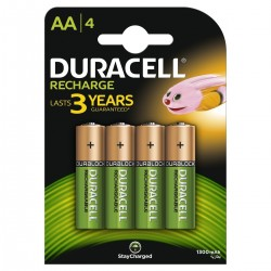 Batteries NiMH Duracell 1300mAh LR6/AA 4 pcs