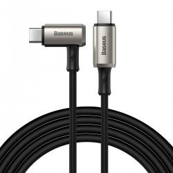Angle cable USB-C 3.1 Baseus Hammer, 100W, PD, 4K 1.5m (black)