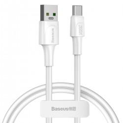 USB-C Baseus White Series, VOOC, QC, 5A, 1m (white)