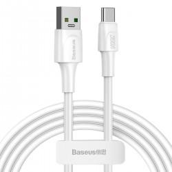 Cable USB-C Baseus White Series, VOOC, QC, 5A, 2m (White)