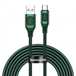 Quick Charge USB-C Baseus Flash, QC 3.0, Huawei SCP, Samsung AFC, 5A, 2m (green)