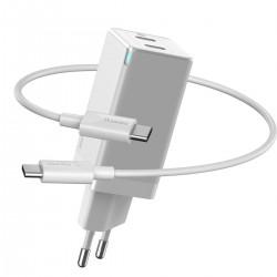 Baseus quick charger GaN2 C+C, 45W, EU (white)