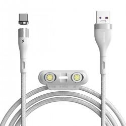 Kabel USB Baseus Fast 4w1 USB do USB-C / Lightning / Micro 5A 1m (biały)