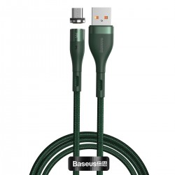 USB magnetic cable - Micro USB Baseus Zinc 2.1A 1m (green)