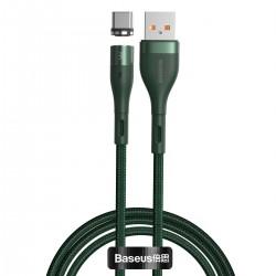 USB magnetic cable - USB-C Baseus Zinc 5A 1m (green)