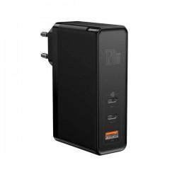 Baseus GaN C+C+U, 120W, EU (black) mains charger