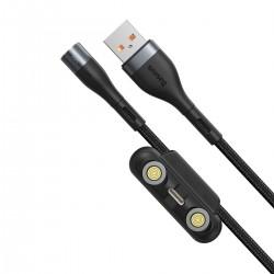 Kabel USB Baseus Fast 4w1 USB do USB-C / Lightning / Micro 5A 1m (szary + czarny)