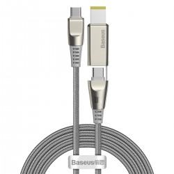 Baseus Flash Series Fast Charging Data Cable with Square Lenovo Head Type-C to C+DC 100W 2m Grey
