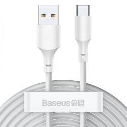 Baseus Simple Wisdom Data Cable Kit USB to Type-C 5A (2PCS/Set)1.5m White