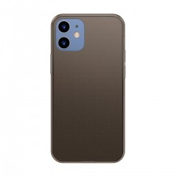 Etui Baseus Frosted Glass Case do iPhone 12 / iPhone 12 Pro  (czarny)