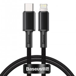Baseus High Density Braided Cable Type-C to Lightning, PD,  20W, 2m (Black)