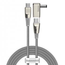 Baseus Flash Series Fast Charging Data Cable with round type Head Type-C to C+DC 100W 2m (grey)