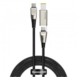 Baseus Flash Series Fast Charging Data Cable with Square Lenovo Head Type-C to C+DC 100W 2m Black
