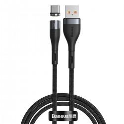 USB magnetic cable - USB-C Baseus Zinc 3A 1m (black)