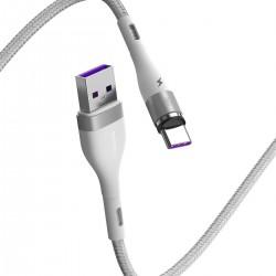 USB magnetic cable - USB-C Baseus Zinc 5A 1m (white)