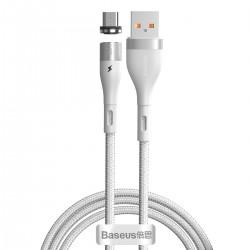 Kabel USB do Micro USB, magnetyczny Baseus Zinc 2.1A 1m (biały)