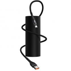 Kabel USB do Micro USB, magnetyczny Baseus Zinc 2.1A 1m (czarny)