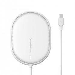 Bezprzewodowa ładowarka indukcyjna Baseus Light do iPhone 12, 15W  (biała)