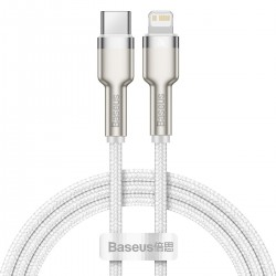 USB-C cable for Lightning Baseus Cafule, PD, 20W, 1m (white)