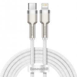 USB-C cable for Lightning Baseus Cafule, PD, 20W, 2m (white)