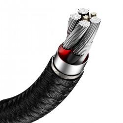 Kabel USB do USB-C Baseus Cafule, 40W, 1m (czarny)