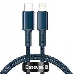 Baseus High Density Braided Cable Type-C to Lightning, PD,  20W, 1m (blue)