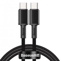 USB-C to USB-C Cable Baseus High Density Braided, 100W, 1m (Black)
