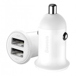 Baseus Grain Pro Car Charger 2x USB 4.8A (white)