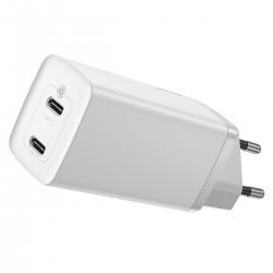 Baseus GaN2 Lite Quick Travel Charger C+C 65W EU (white)