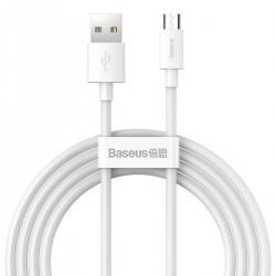 Baseus Simple Wisdom Data Cable Kit USB to Micro 2.1A (2PCS/Set) 1.5m White