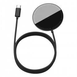 Baseus Simple Mini magnetic induction wireless charger, MagSafe, 15W (black)