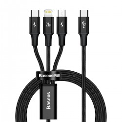 Baseus Rapid Series 3-in-1 cable USB-C For M+L+T 20W 1.5m Black