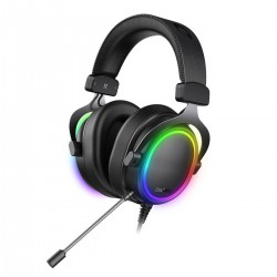 Dareu EH925s PRO gaming headphones, ENC, RGB, 7.1 (black)