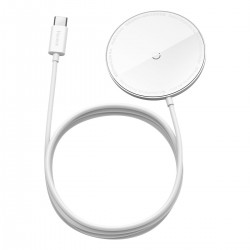 Baseus Simple Mini magnetic induction wireless charger, MagSafe, 15W (white)