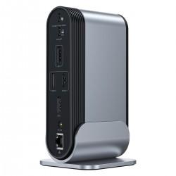 Baseus Working Station Multifunctional Type-C HUB Adapter (CN+UK+EU) Dark gray